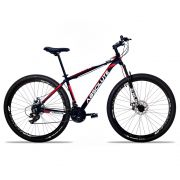 Bicicleta Aro 29 Absolute Nero II 24v Câmbios Shimano Freio a Disco Pto/Verm
