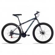 Bicicleta Aro 29 Absolute Nero II 24v Freio a Disco Pto/Cinza