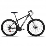 Bicicleta Aro 29 Rava Pressure 24v Freio a Disco Pto/Cinza