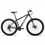 Bicicleta Aro 29 Rava Pressure 24v Freio a Disco Pto/Verm/Amar