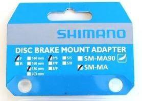 Adaptador de Freio a Disco Shimano SM-MA Traseiro 180mm