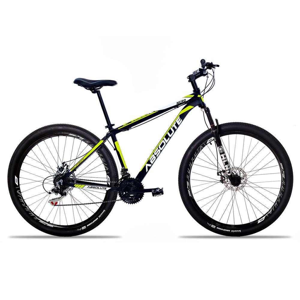 Bicicleta Aro 29 Absolute Nero II 21v Câmbios Shimano Freio a Disco Pto/Amar