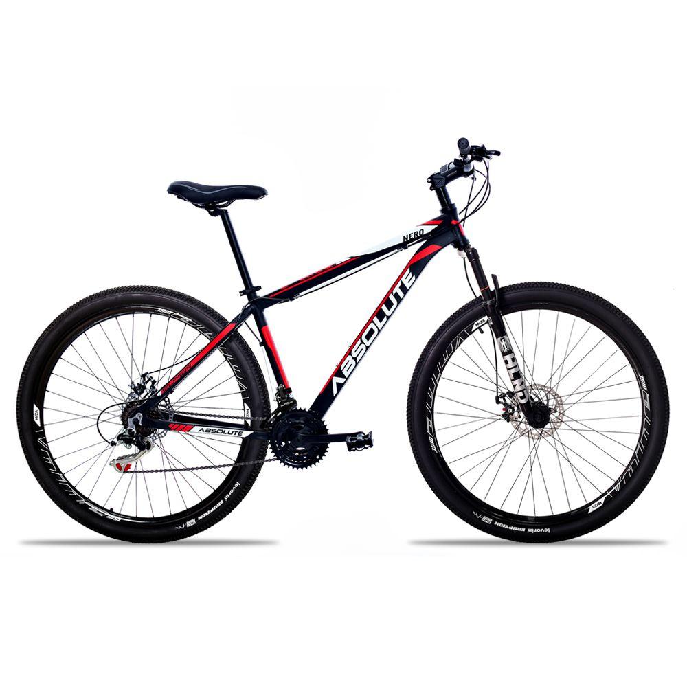 Bicicleta Aro 29 Absolute Nero II 21v Câmbios Shimano Freio a Disco Pto/Verm