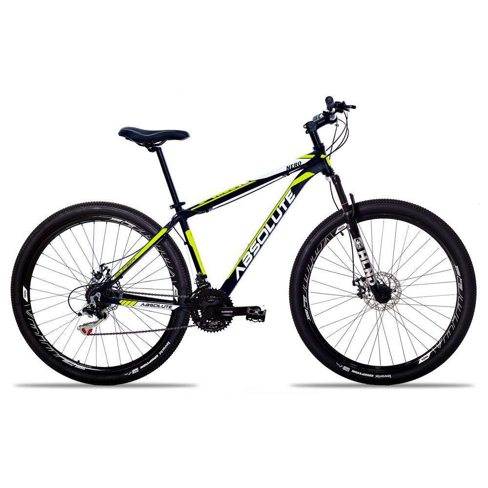 Bicicleta Aro 29 Absolute Nero II 21v Shimano Freio Hidraulico Pto/Amar