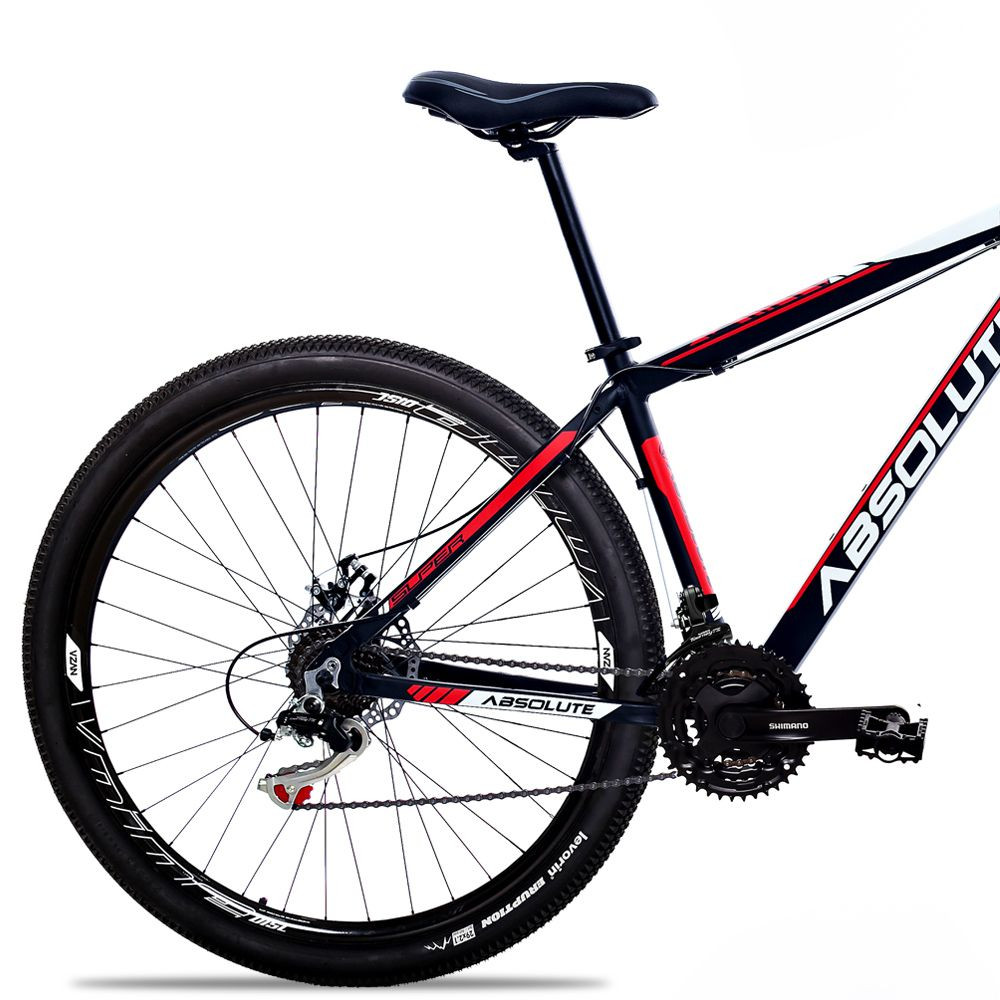 Bicicleta Aro 29 Absolute Nero II 21v Shimano Freio Hidraulico Pto/Verm