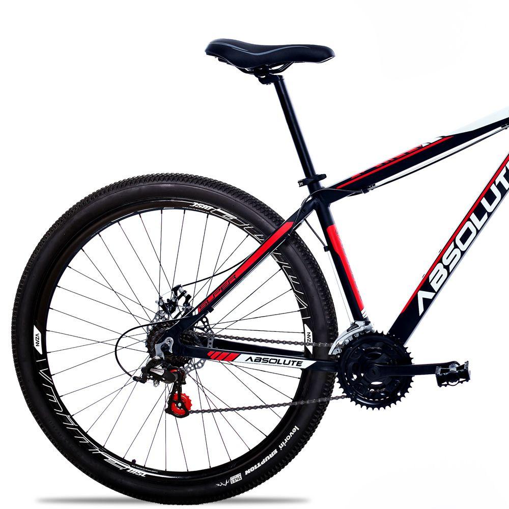 Bicicleta Aro 29 Absolute Nero II 24v Freio a Disco Pto/Verm