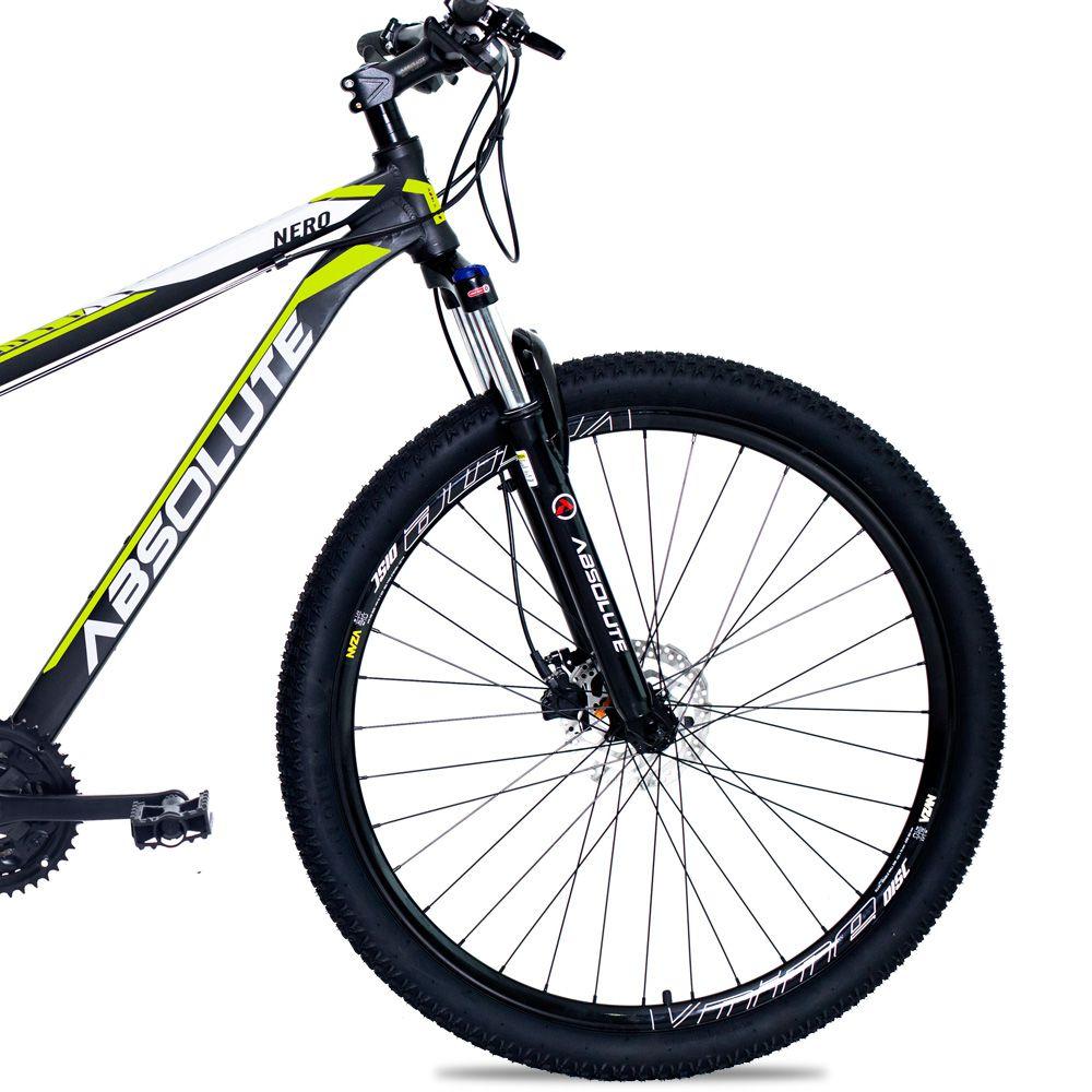 Bicicleta Aro 29 Absolute Nero II 27v Cubo Shimano F Hidráulico Suspensao Pto/Amar
