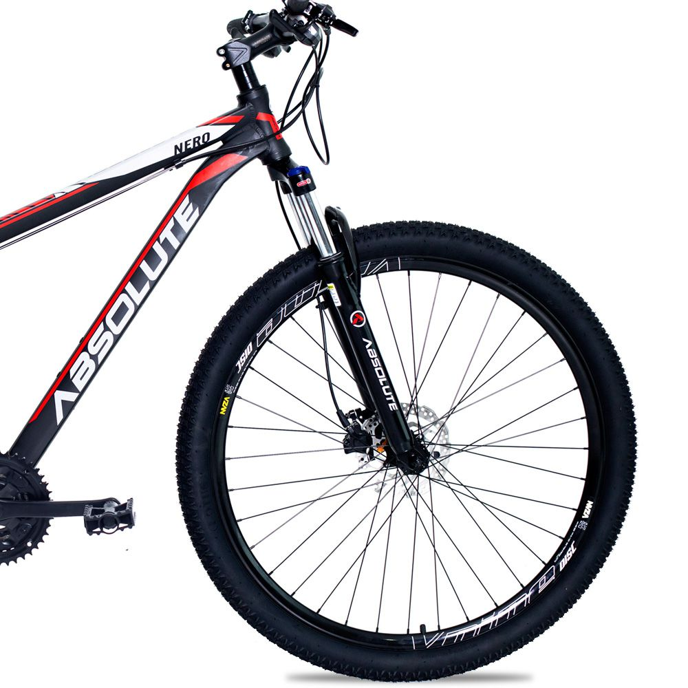 Bicicleta Aro 29 Absolute Nero II 27v Cubo Shimano F Hidráulico Suspensao Pto/Verm