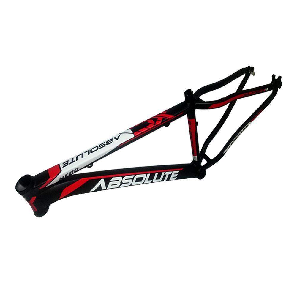 Bicicleta Aro 29 Absolute Nero II 27v F Hidráulico e Grupo Shimano Completo Pto/Verm