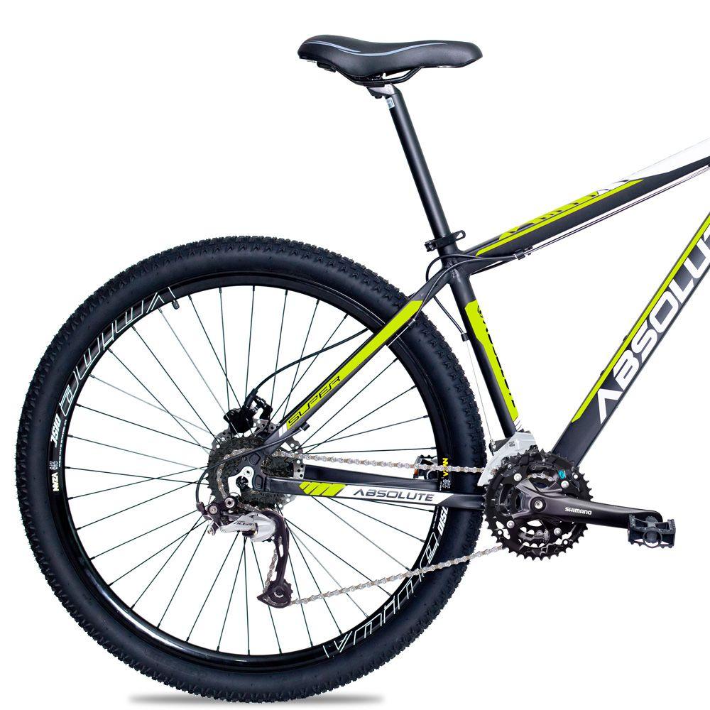 Bicicleta Aro 29 Absolute Nero II 27v F Hidráulico Shimano Acera M3000 Completo Pto/Amar