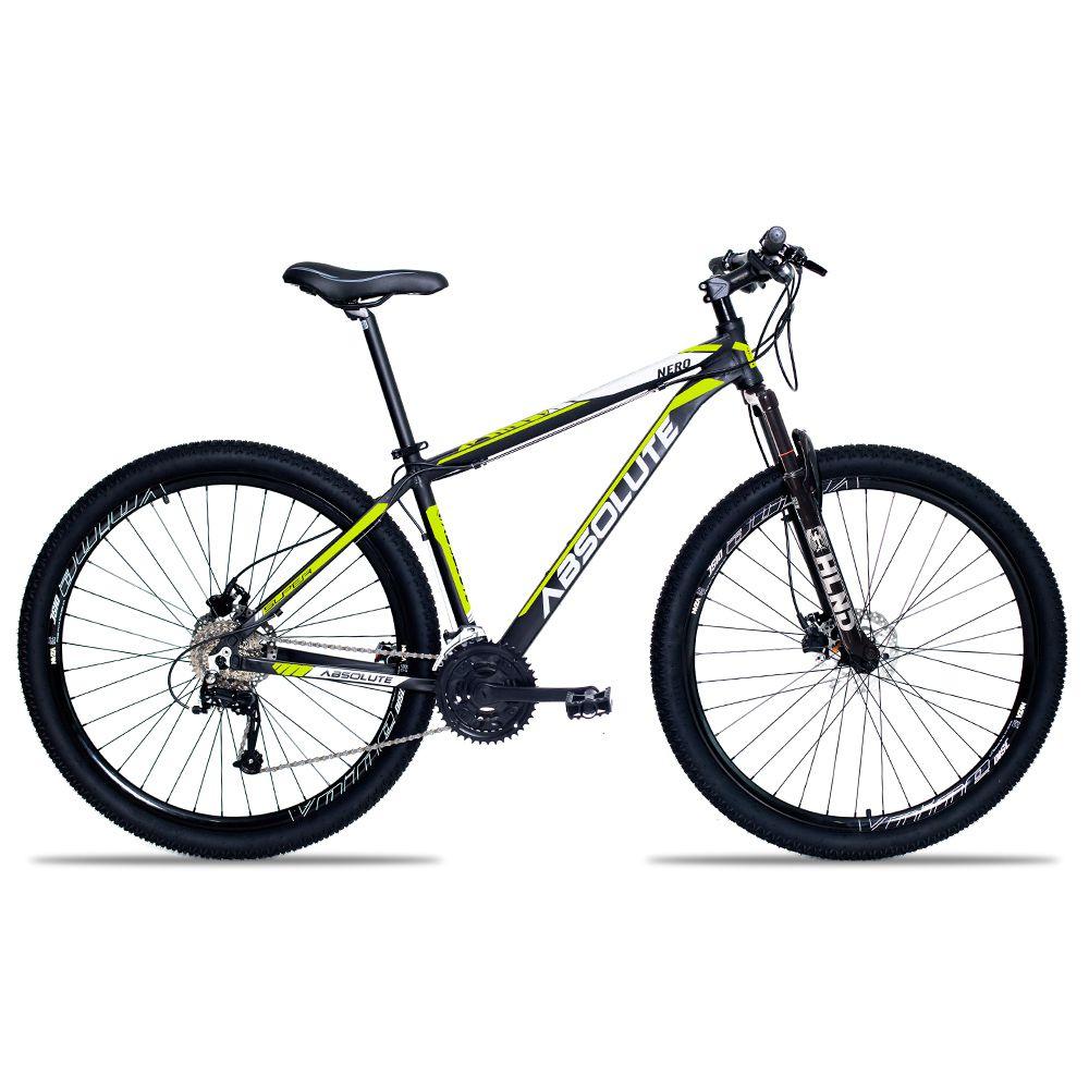 Bicicleta Aro 29 Absolute Nero II 27v kit Veloforce Freio Hidráulico Pto/Amar