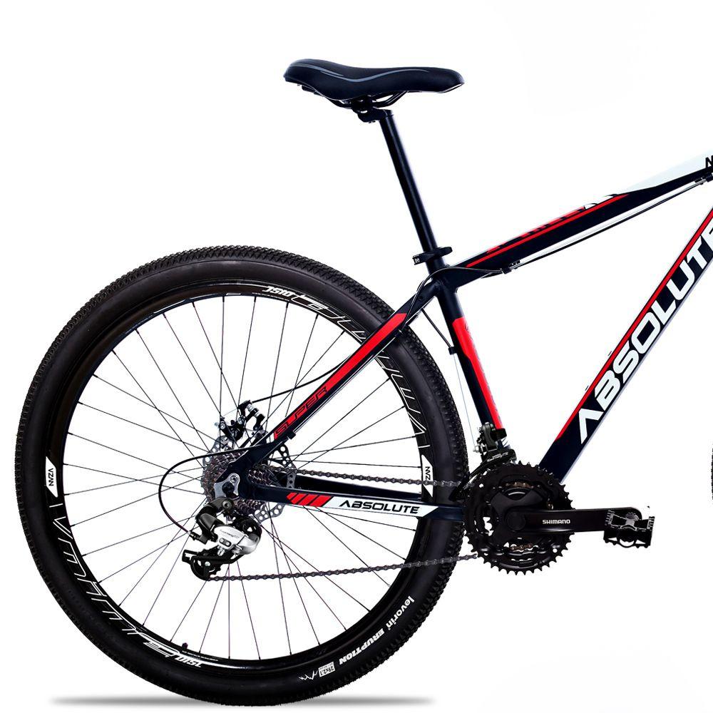 Bicicleta Aro 29 Absolute Nero II 27v Shimano Completo F Hidráulico Pto/Verm