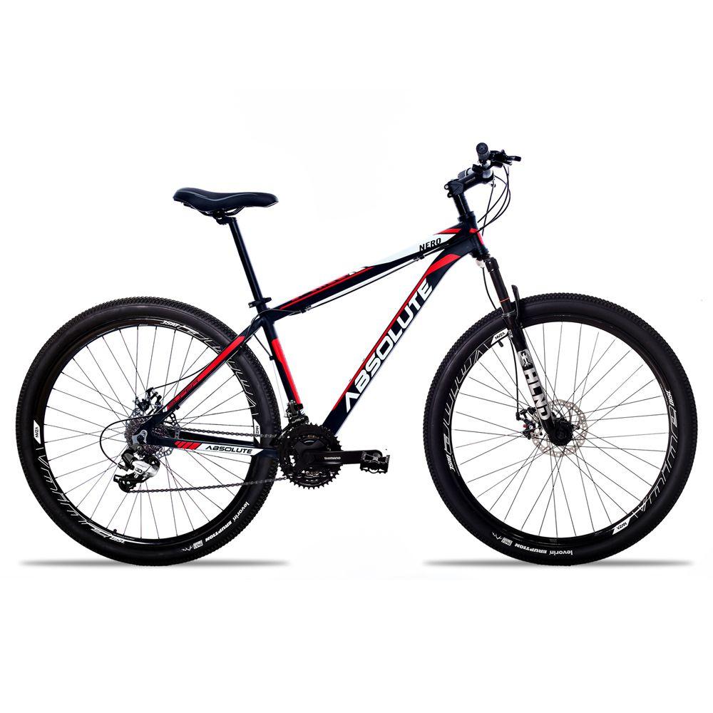 Bicicleta Aro 29 Absolute Nero II 27v Shimano Completo Pto/Verm