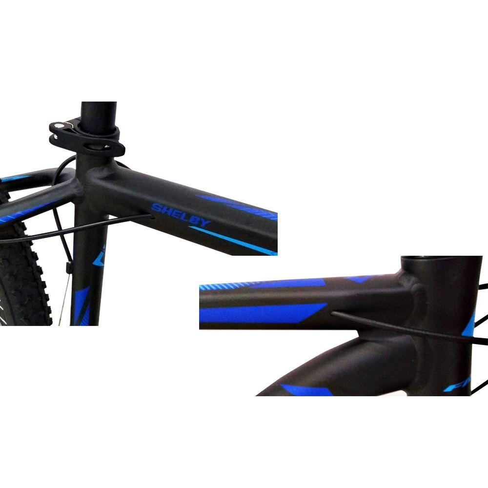 Bicicleta Aro 29 First Shelby 27v Shimano Completo Pto/Azul