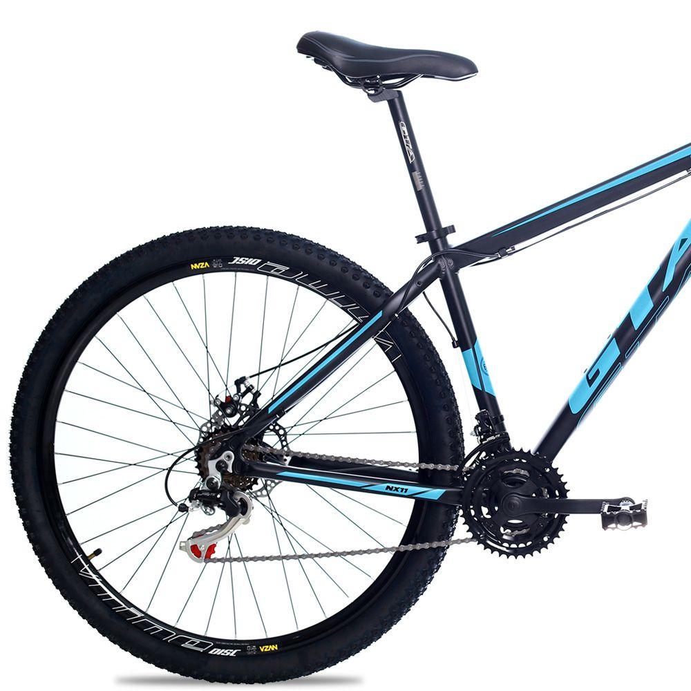 Bicicleta Aro 29 GTA NX11 21v Câmbios Shimano Freio a Disco Pto/Azul