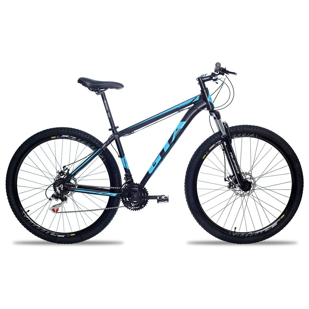 Bicicleta Aro 29 GTA NX11 21v Freio a Disco Pto/Azul