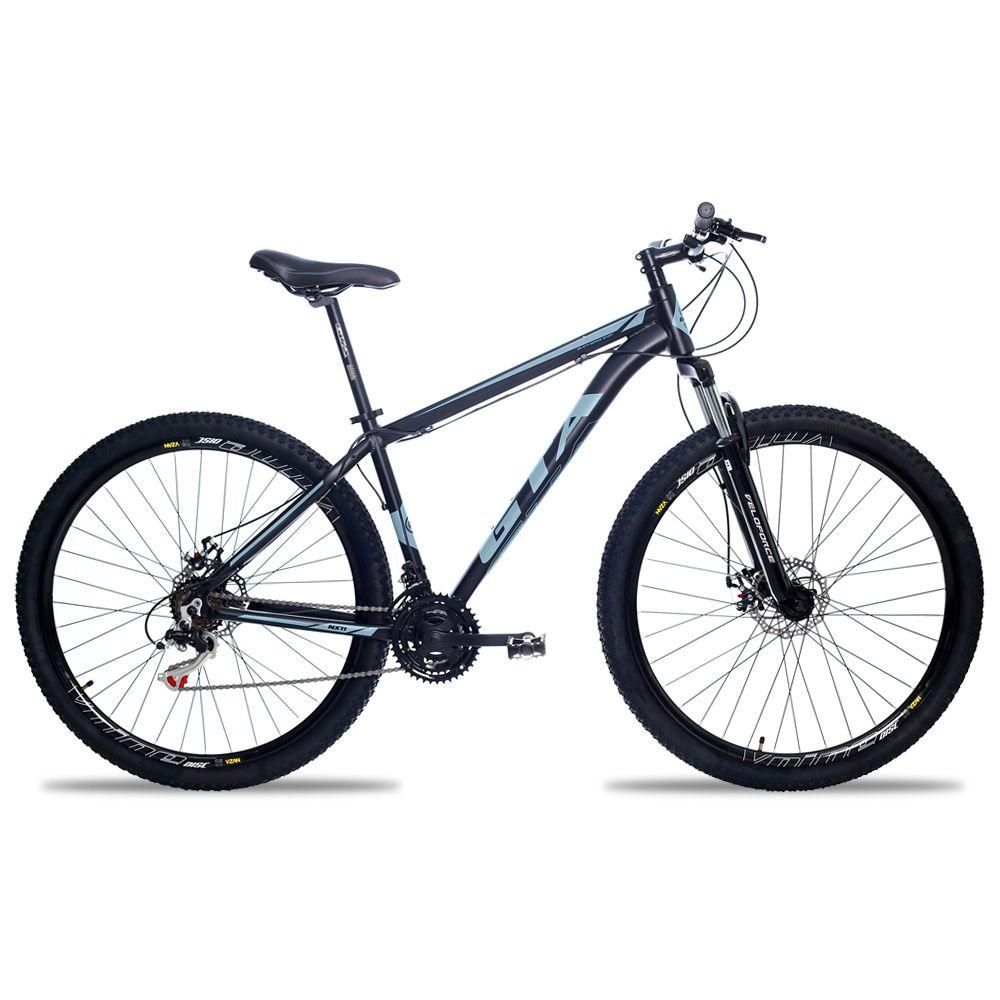 Bicicleta Aro 29 GTA NX11 21v Freio a Disco Pto/Graf