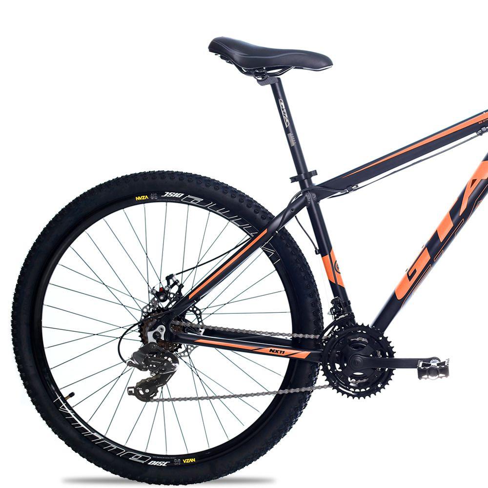 Bicicleta Aro 29 GTA NX11 24v Câmbios Shimano Freio a Disco Pto/Lar