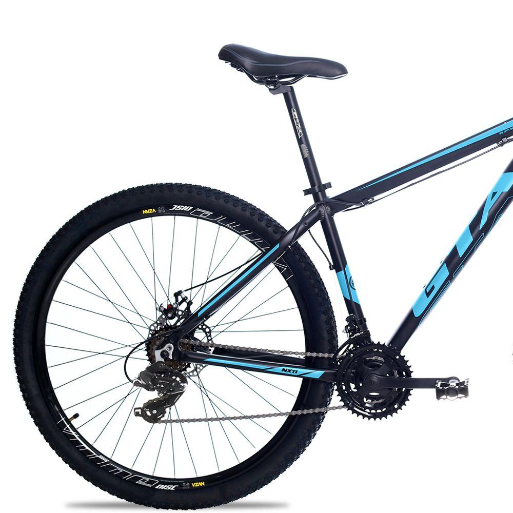 Bicicleta Aro 29 GTA NX11 24v Cambios Shimano Hidraulico Pto/Azul
