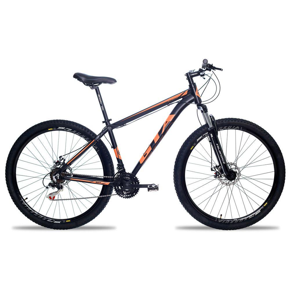 Bicicleta Aro 29 GTA NX11 24v Freio a Disco Pto/Lar