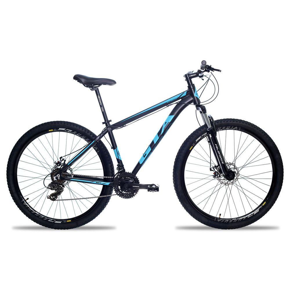 Bicicleta Aro 29 GTA NX11 24v Shimano Freio Hidraulico Pto/Azul