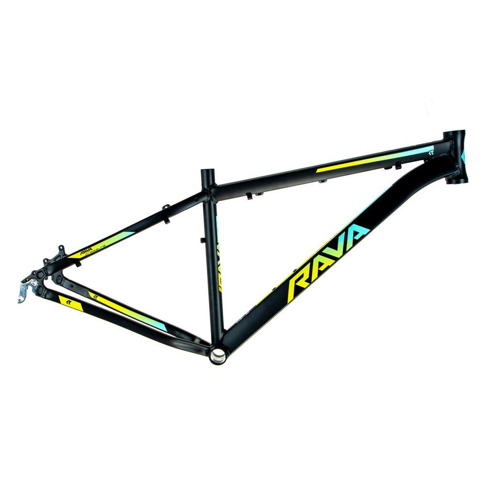 Bicicleta Aro 29 Rava Pressure 21v Câmbios Shimano Freio a Disco Pto/Verde/Azul