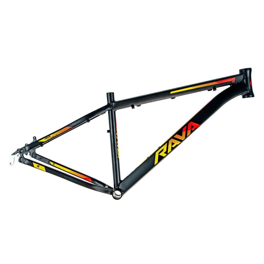 Bicicleta Aro 29 Rava Pressure 21v Shimano Altus Freio a Disco Pto/Verm/Amar