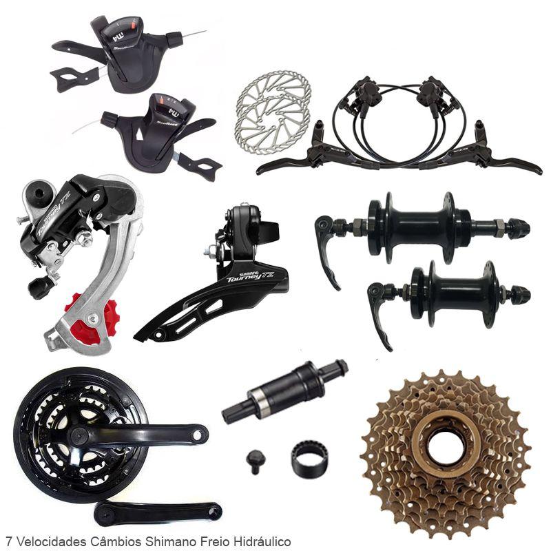 Bicicleta Aro 29 TSW Rava Pressure 21v Cambios Shimano Hidraulico Pto/Amar