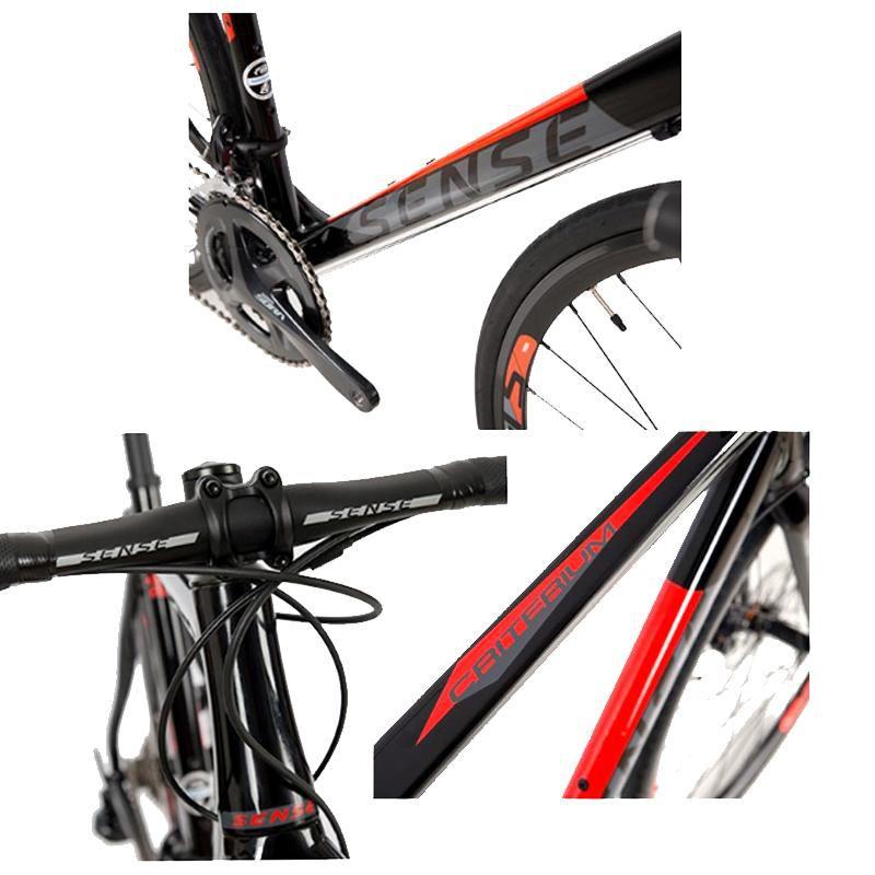 Bicicleta Speed 700 Sense Criterium Sora 2018 Pto/Verm T 53