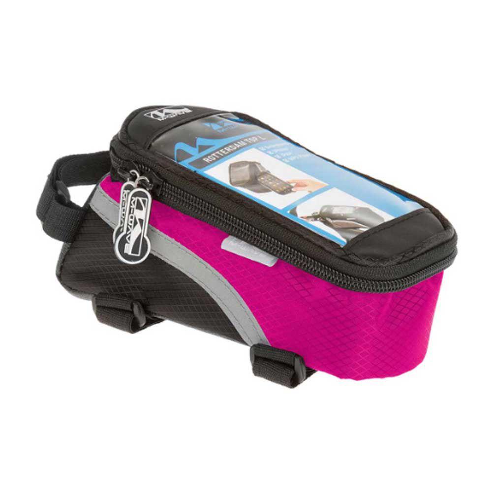 Bolsa de Quadro Para Bicicleta Porta Celular M-Wave Pto/Rosa