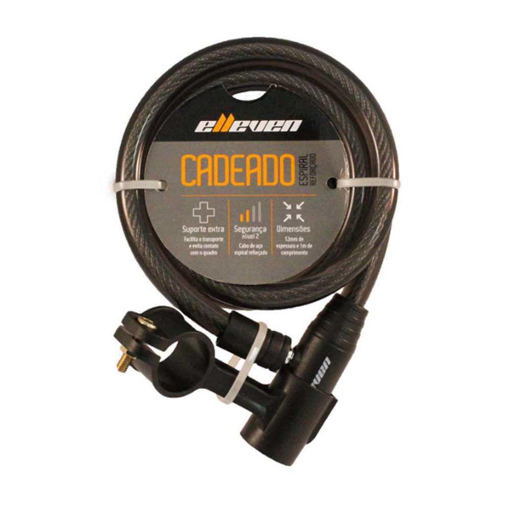 Cadeado Para Bicicleta Elleven 100cmx12mm com Chave Preto