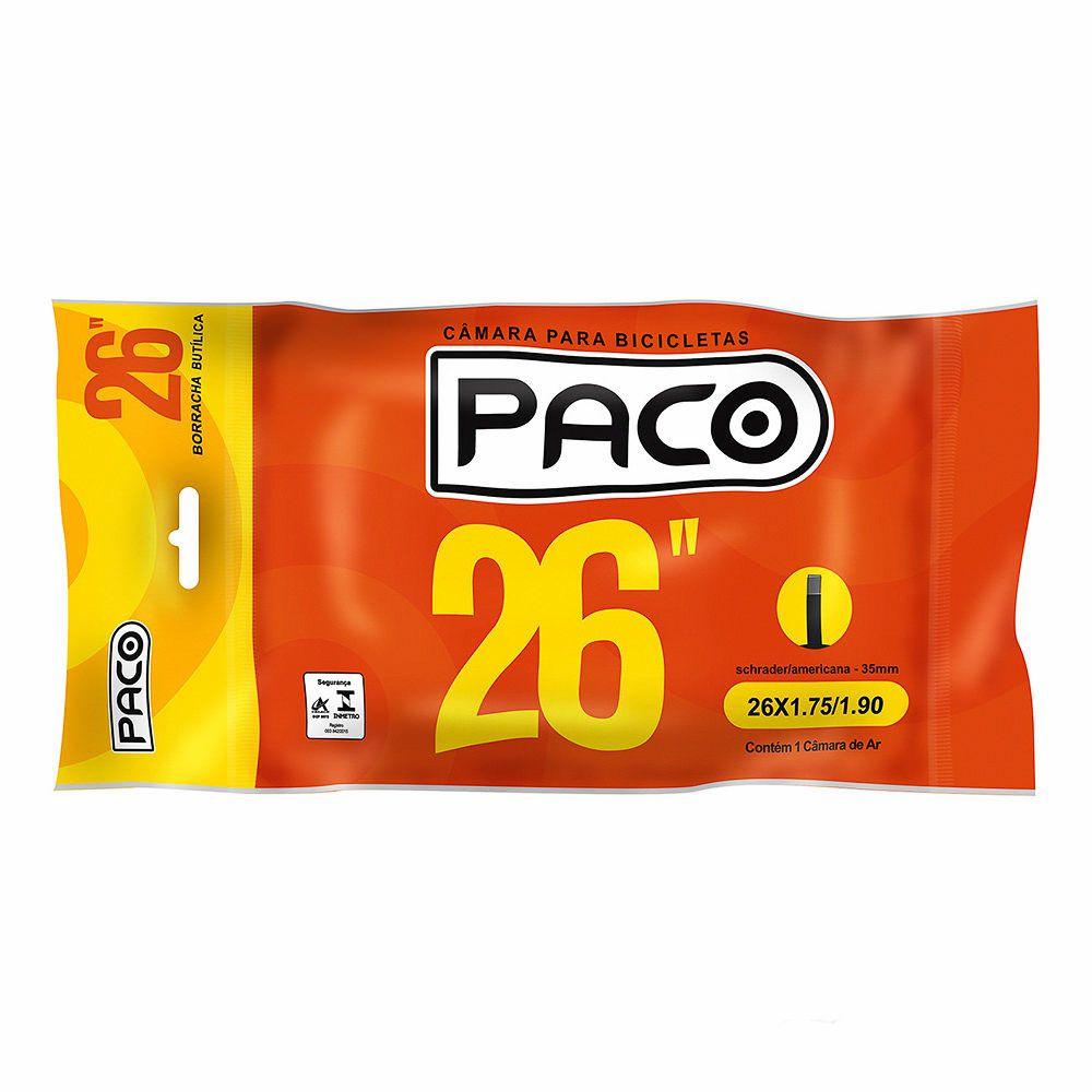Câmara de Ar para Bicicleta Aro 26 Paco Bico Grosso 35mm