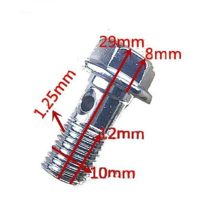 Parafuso  Flexivel Freio Cilindro Mestre Pinça Moto M10 1,25