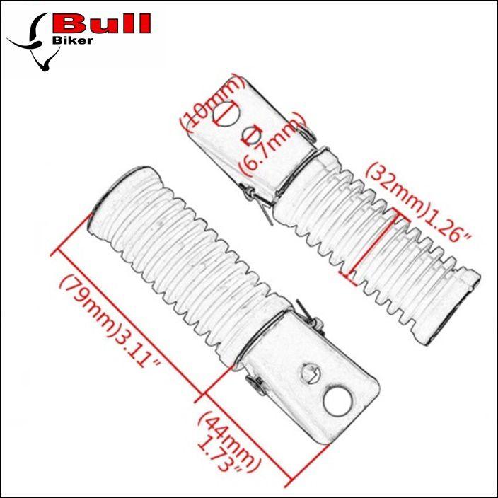 Pedaleira traseira c/ suporte Moto Adaptação Universal (PAR)