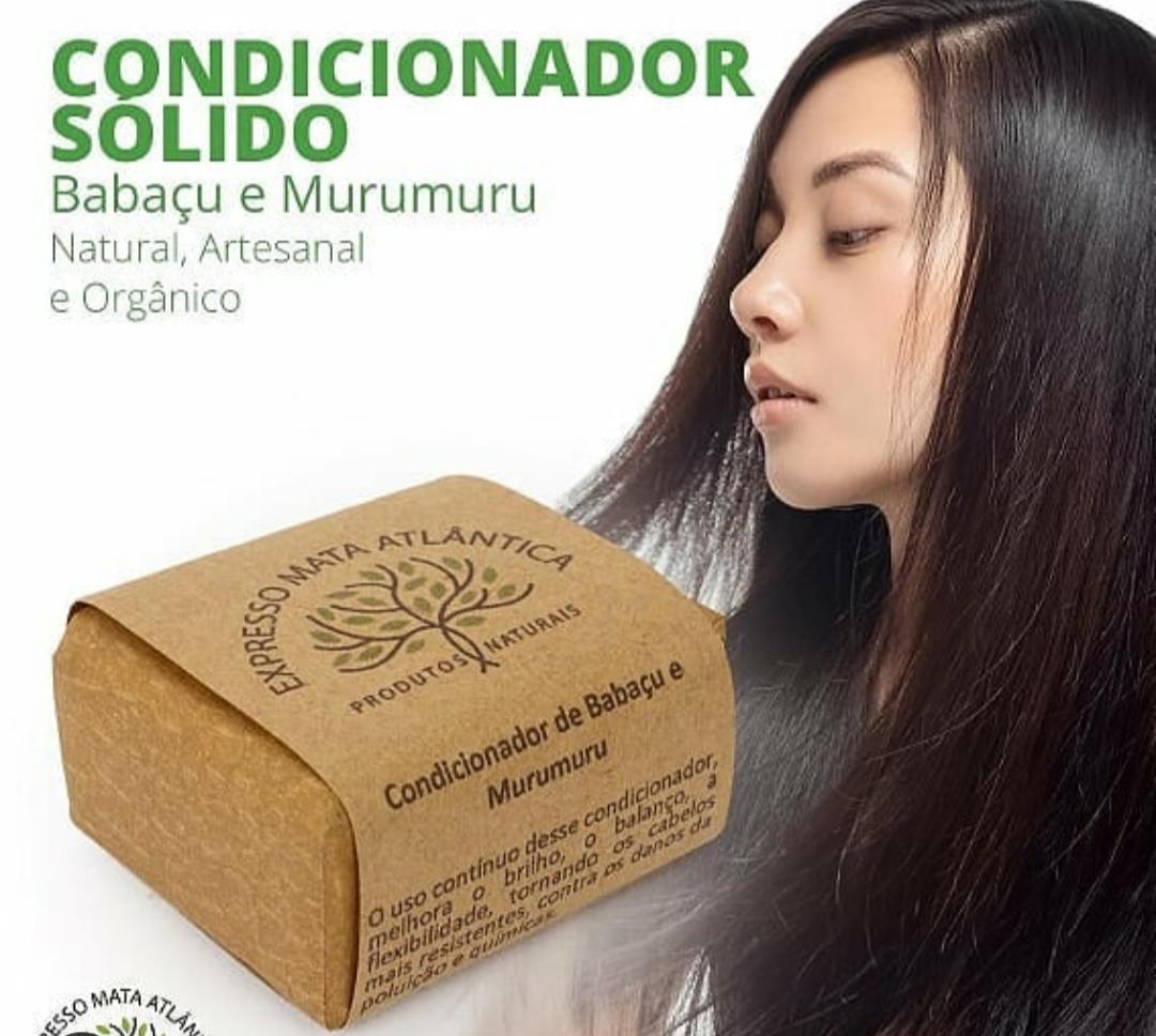 Condicionador barra Vegano Natural de Babaçu e Murumuru da Expresso Mata Atlântica