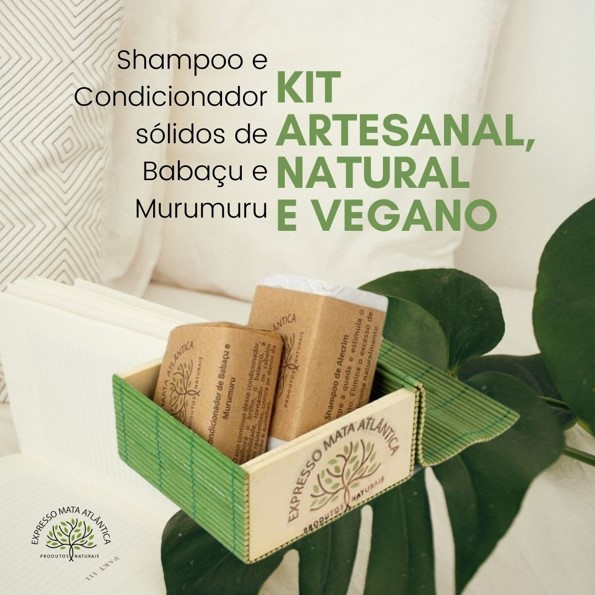 Kit Condicionador e Shampoo Sólido da Expresso Mata Atlântica