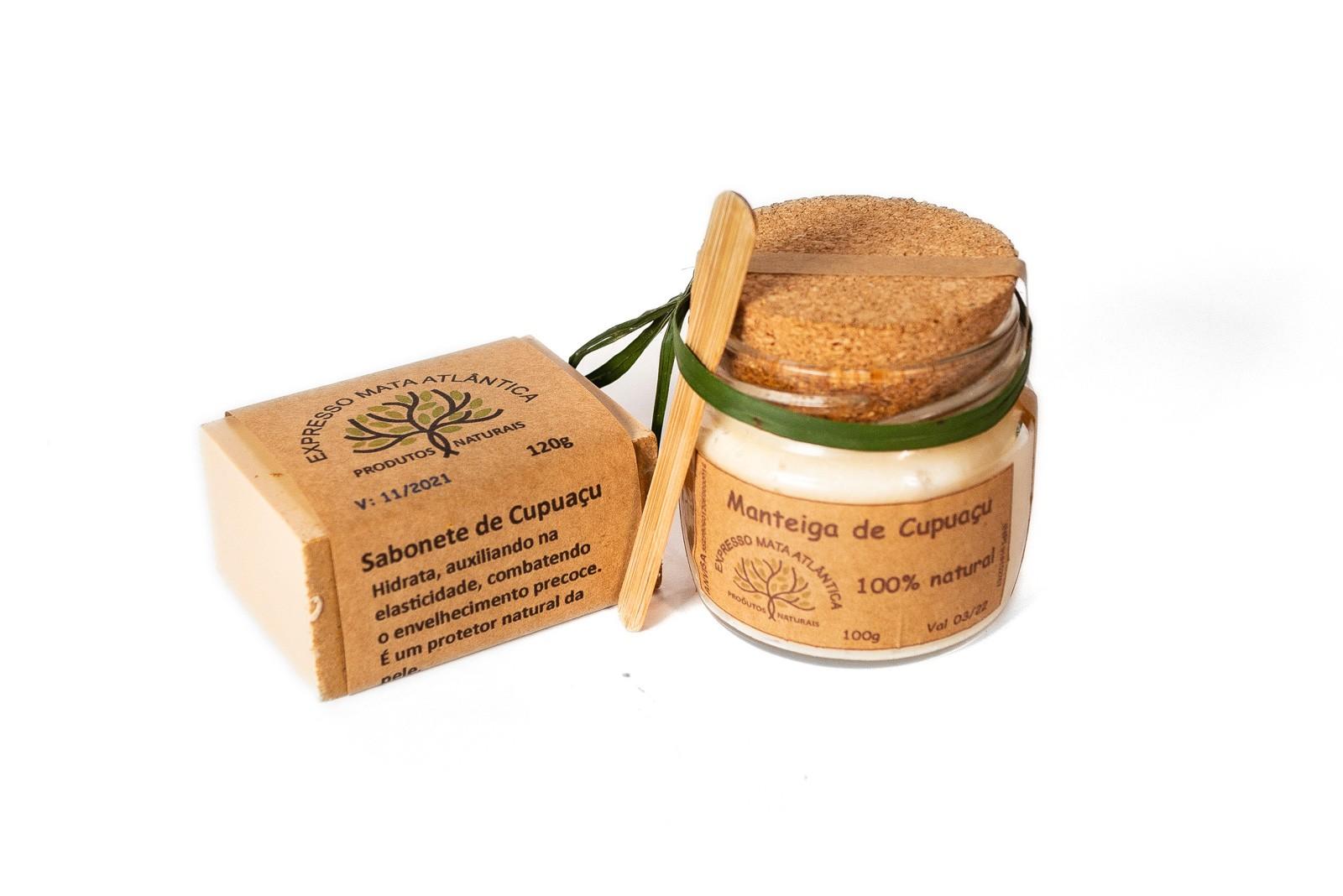 Kit  Manteiga e Sabonete Cupuaçu da Expresso Mata Atlântica