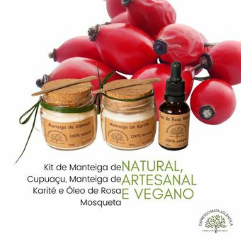 Kit Manteigas e óleo Rosa Mosqueta  Expresso Mata Atlântica