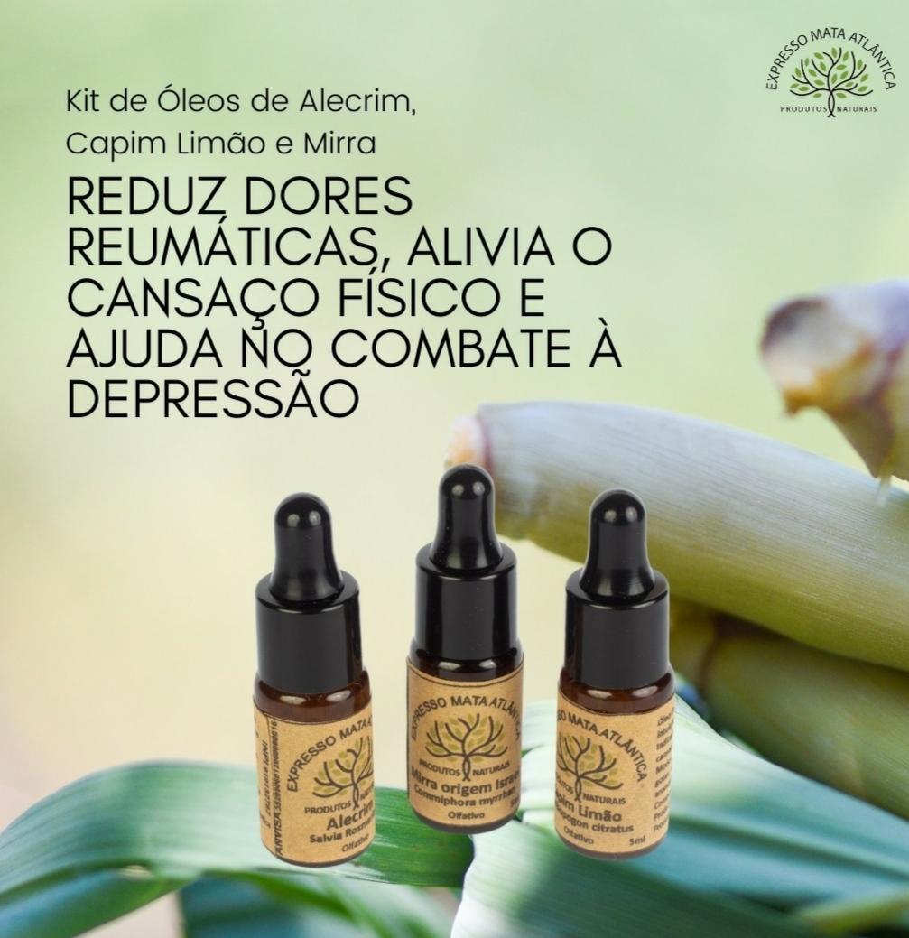 Kit Óleos  Aromaterapia naturais da Expresso Mata Atlântica