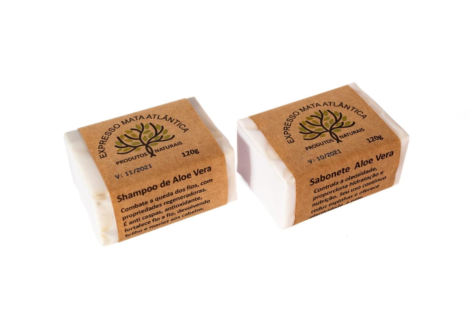 Shampoo barra e sabonete Natural Vegano  Aloe Vera da Expresso Mata Atlântica