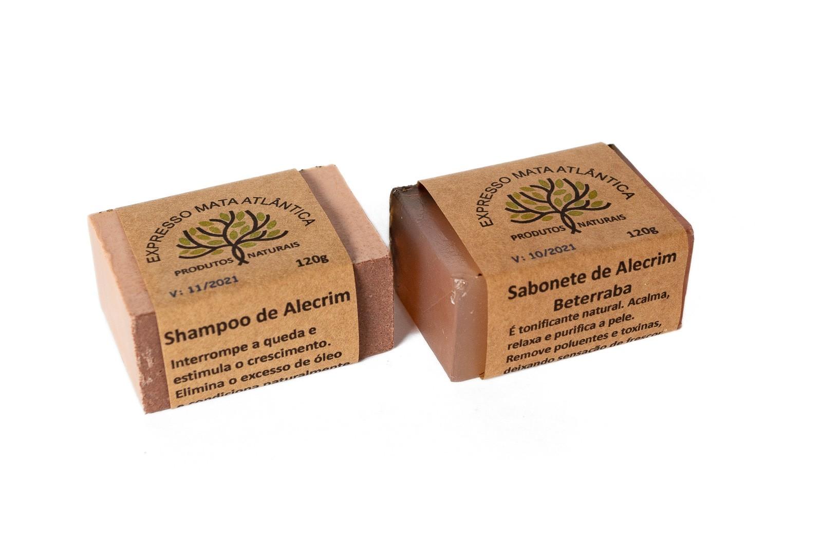 Shampoo barra e Sabonete Veganos Naturais Alecrim da Expresso Mata Atlântica