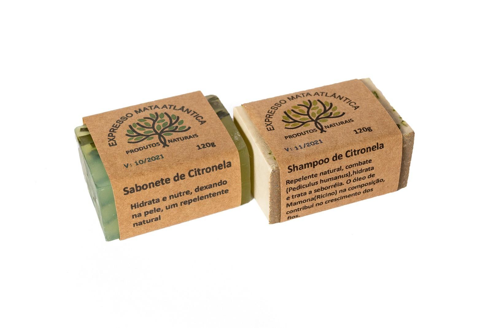 Shampoo barra e Sabonete Vegano Naturais de Citronela da Expresso Mata Atlântica
