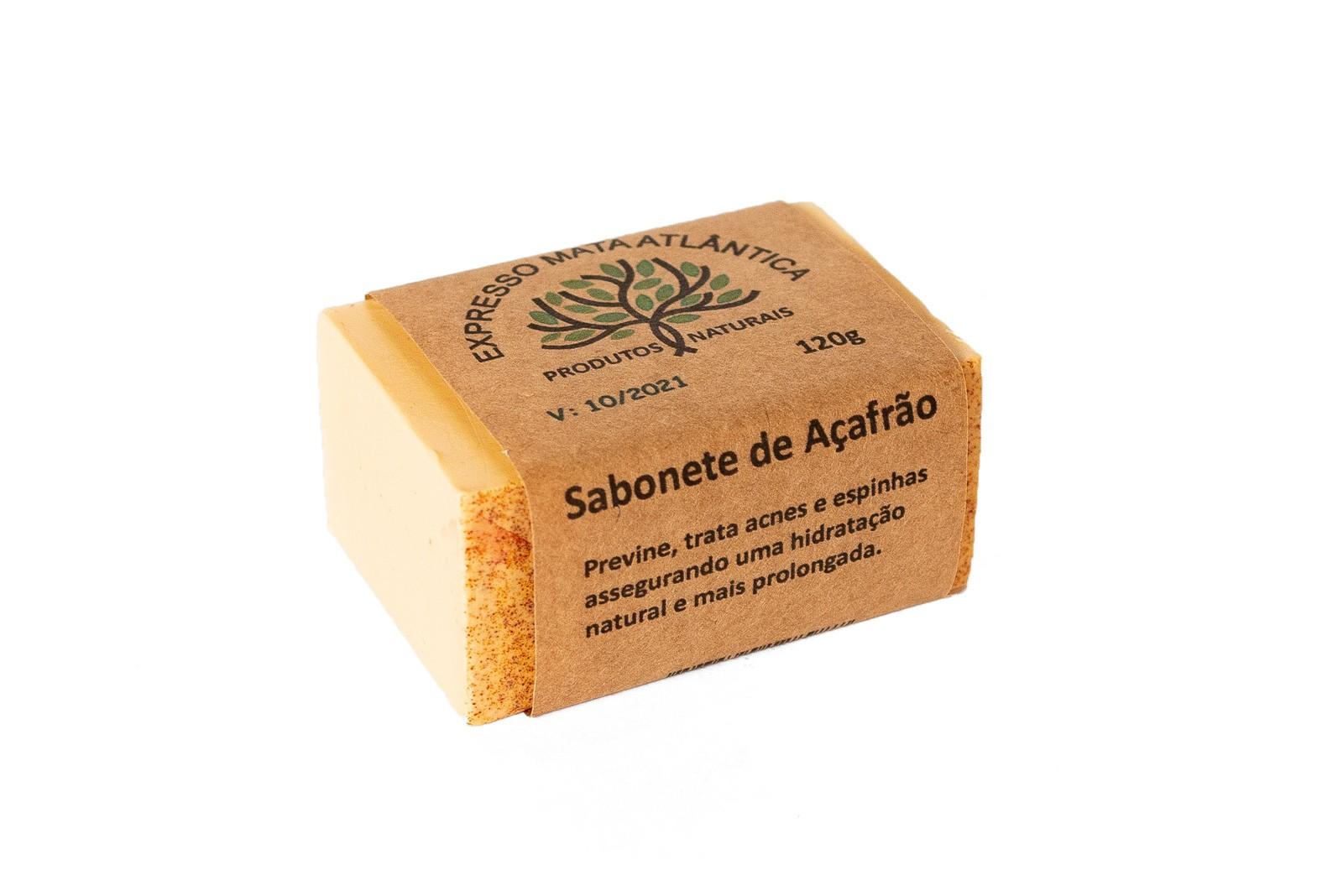 Sabonete Açafrão Natural Vegano da Expresso Mata Atlântica