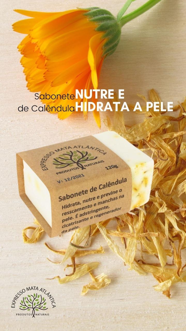 Sabonete Calêndula Natural Vegano da Expresso Mata Atlântica