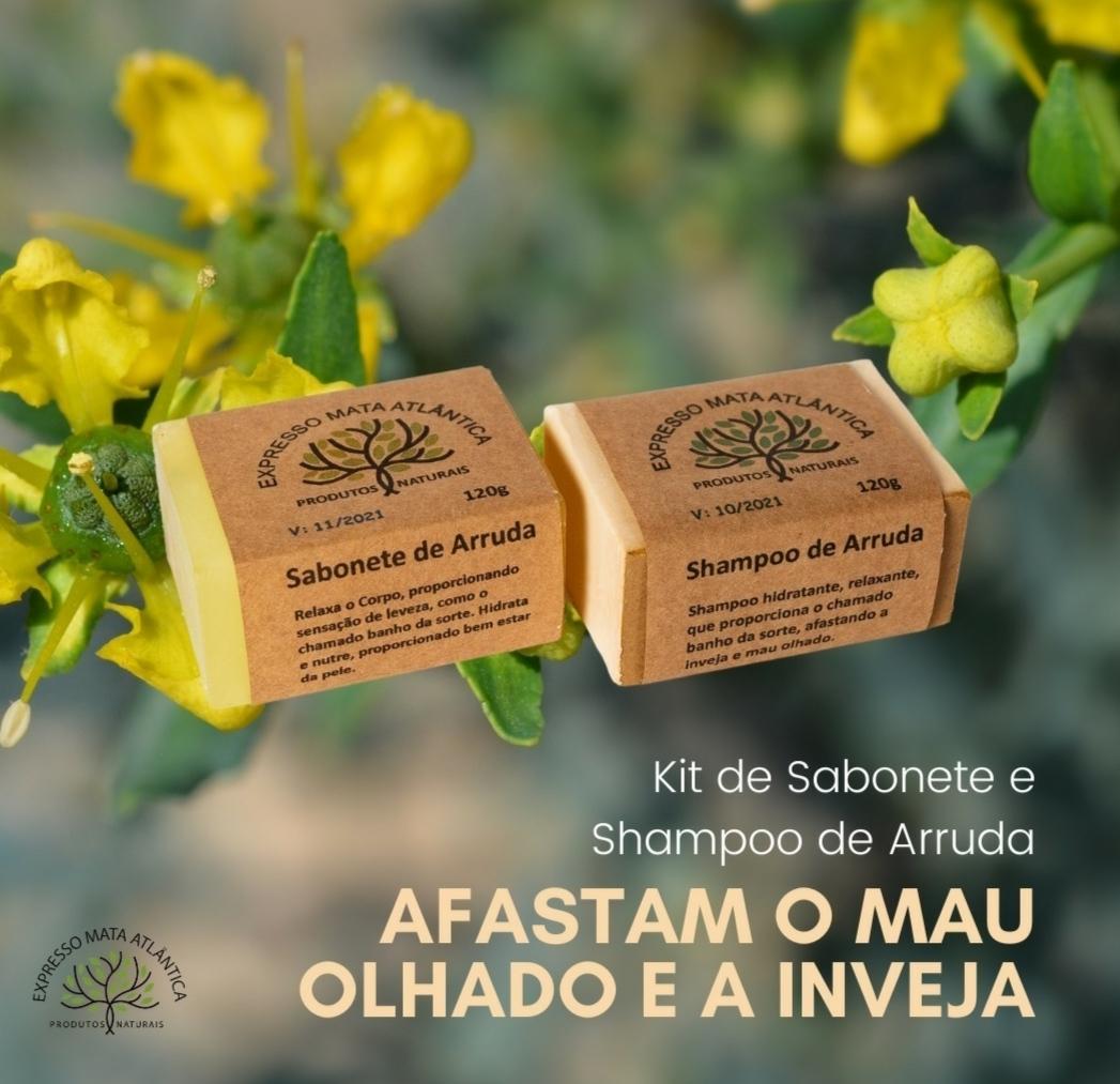 Sabonete e Shampoo Vegano Arruda da Expresso Mata Atlântica