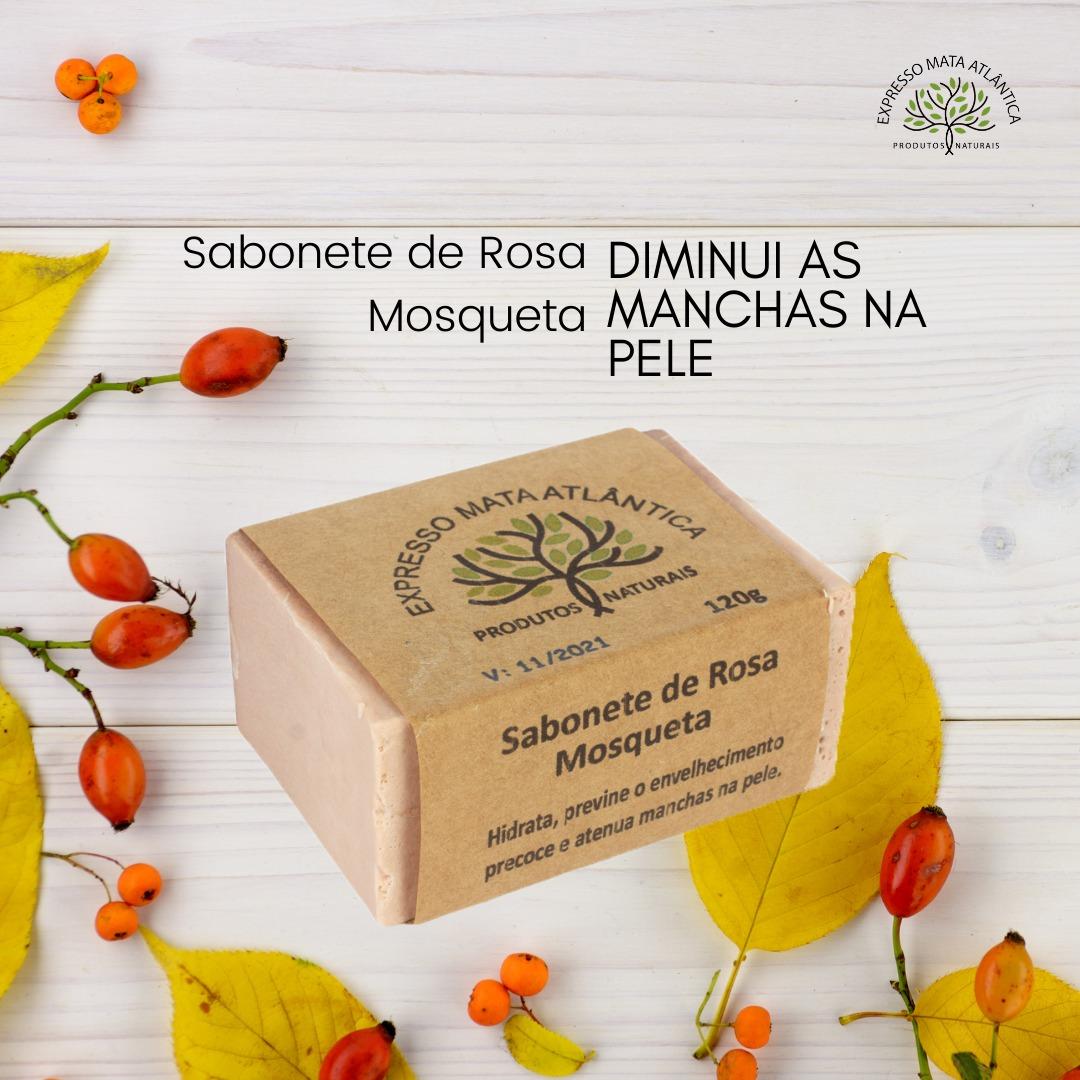 Sabonete  Rosa Mosqueta Vegano da Expresso Mata Atlântica