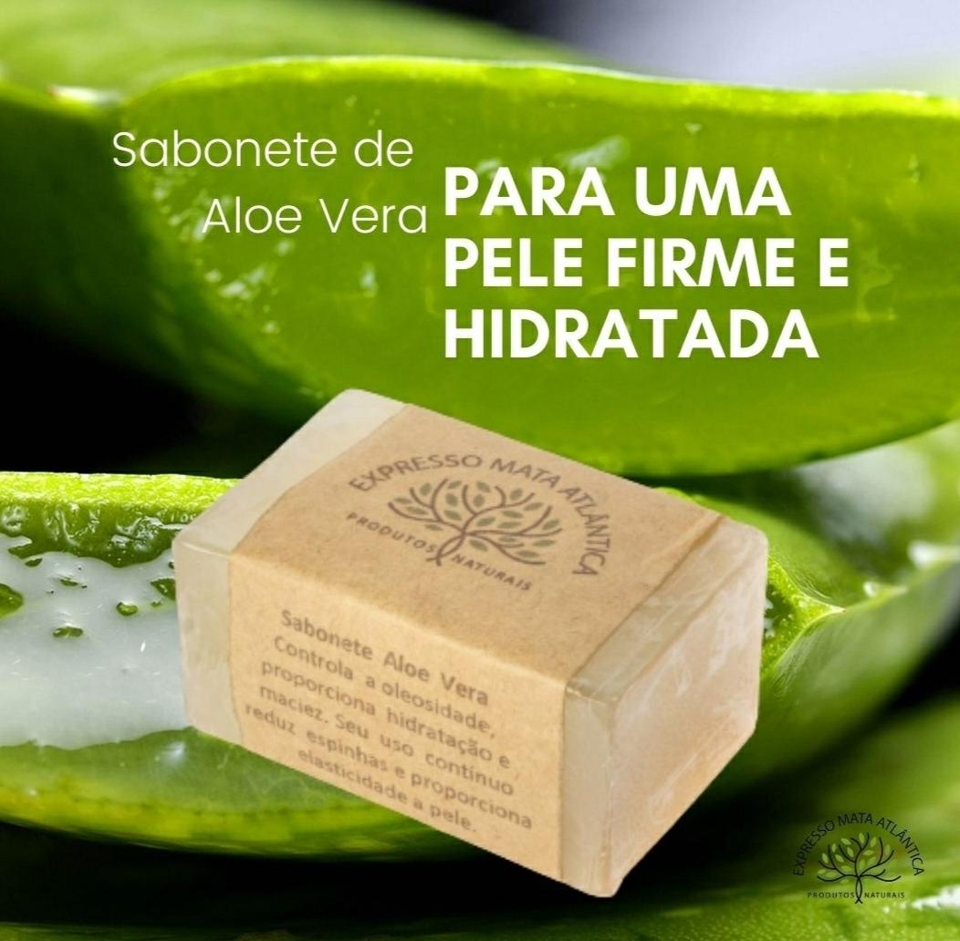 Sabonete Vegano de Aloe Vera, Natural, Artesanal e Vegano