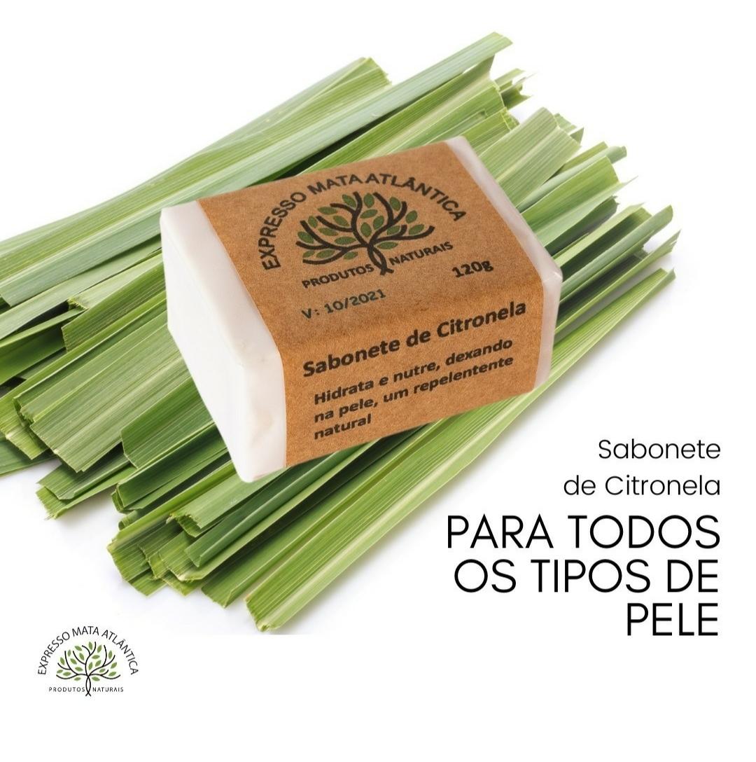 Sabonete Vegano de Citronela. Natural e Orgânico.