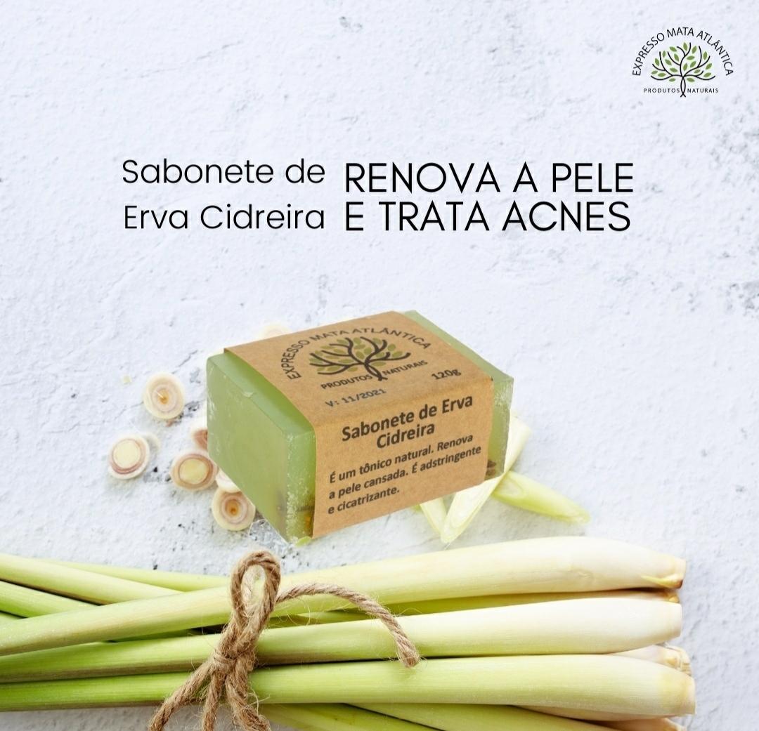 Sabonete Vegano de Erva Cidreira, Natural, Artesanal e Orgânico.