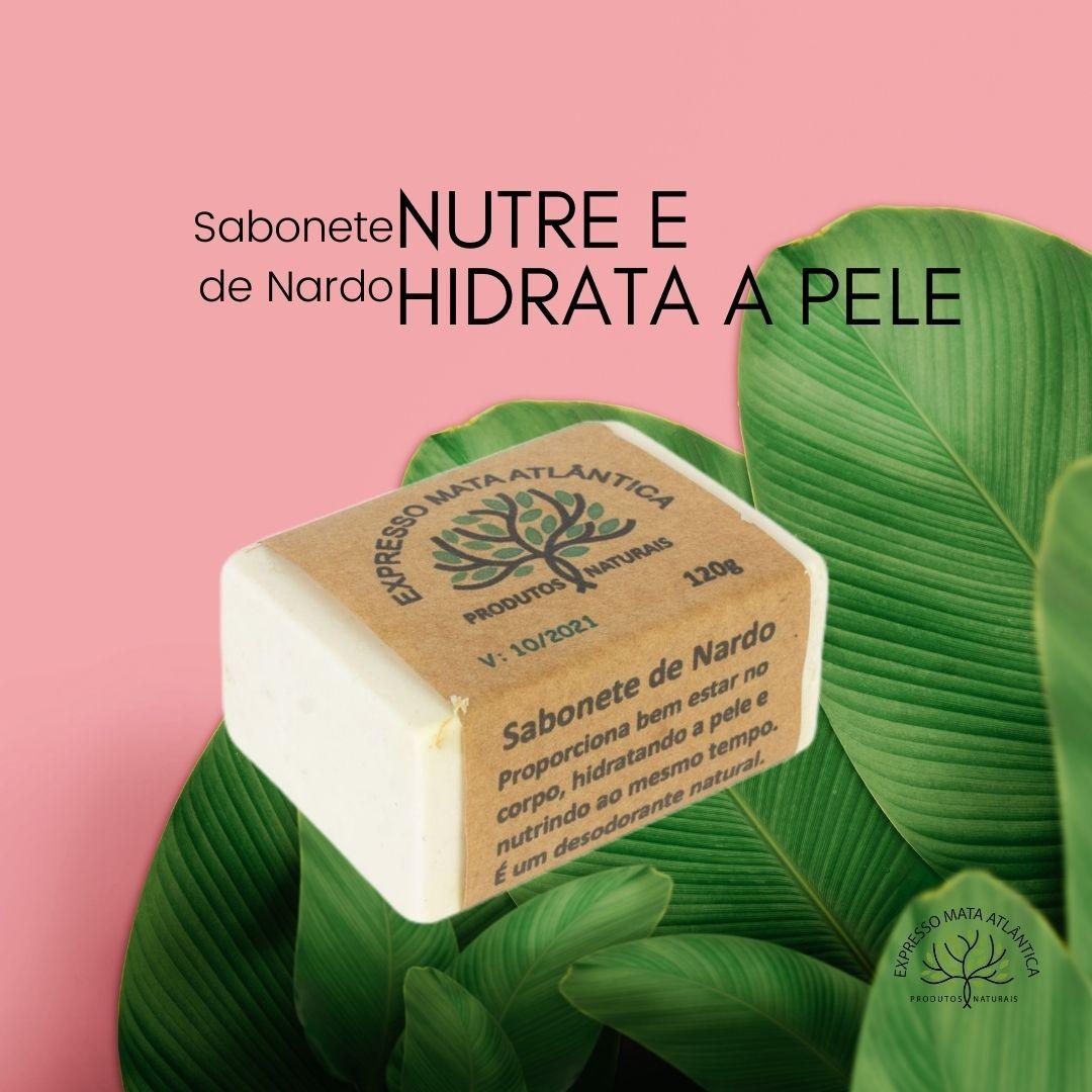 Sabonete Vegano natural de Nardo da Expresso Mata Atlântica